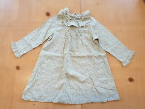 NEXT Girl's Green Floral Long Sleeve Smock Dress Size 12 - 18 Months