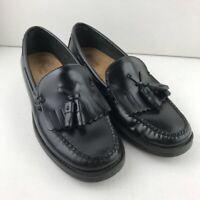 Bass Weejuns Womens Marietta II Loafer Shoes Black Leather Tassel Moc Toe 8 M