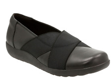 d35d4654233e NEW CLARKS MEDORA JEM BLACK LEATHER LOAFER SHOES WOMENS 8  21855 FREE SHIP