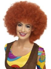 Auburn 60s Afro Wig Ladies 1960s Fancy Dress Wig Large Curly