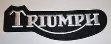 "Triumph Motorcycle Biker British Embroidered Patch~4 1/8"" x 1 3/8""~Iron Sew On"