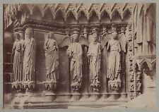 Architecture sculpture chrétienne Art gothique France Vintage albumine ca 1880