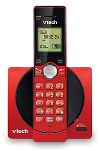 VTECH CORDLESS PHONE SYSTEM WITH CALLER ID / CALL WAITING MODEL#CS6919-16 RED