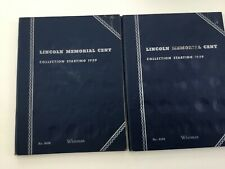 88 Lincoln Memorial Cents in two Whitman Albums