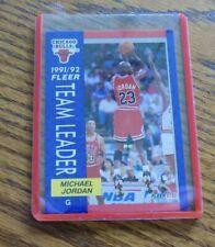 1991-92 FLEER BASKETBALL #375 MICHAEL JORDAN TEAM LEADERS CHICAGO BULLS CARD
