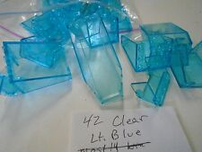 Lego Lot of 42 Neon Transparent Light Dark Clear Turquoise