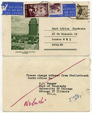 SOUTH AFRICA ILLUSTRATED STATIONERY CHEETAH UPRATED AIRMAIL