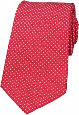 David Van Hagen Mens Pin Dot Silk Tie - Red