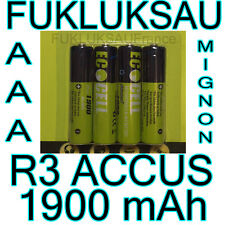 8 x PILES AAA | PILES ACCUS RECHARGEABLE MIGNON 1900mAh Ni-MH 1,2V R3 LR03 NEW