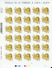 France 2019 MNH Boucheron Hearts 30v S/A M/S I Valentines Heart Shaped Stamps