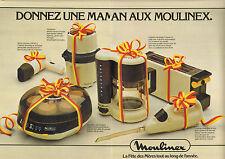 Publicité 1979  (Double page)  MOULINEX  cafetière sèche cheveux yaourtière