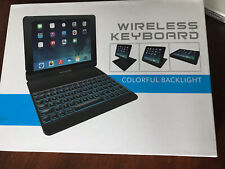 Yekbee Keyboard Case Re Apple iPad 6/5/Pro 9.7/Air-1/2, Bluetooth,Gold,backlight
