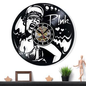 Pink P!nk Vinyl Record Wall Clock Gift Surprise Ideas Friends Decor Wall Art