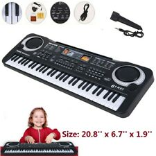 61 Key Digital Music Organ Electronic Keyboard Kids Electric Piano Organ w/ Mic.