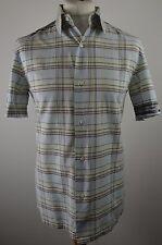 Trendy men's Diesel multi pastel check short sleeved cotton shirt medium