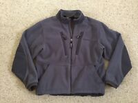 Simms Windstopper Fly Fishing Technical Fleece Jacket Mens Large Blue Full Zip