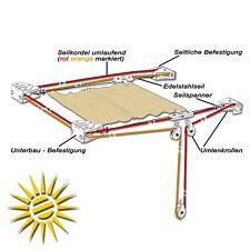 Seilzug für Seilspannmarkise Pergoa 14m Edelstahlseil ohne Laufhaken Sonnensegel