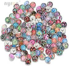 50pcs/lot 12mm snap button Cashew flowers fit snaps Jewelry Fashion styles