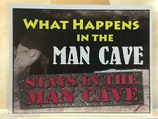 FUNNY MAN CAVE sign w/ water proof laminate Customize Letter size