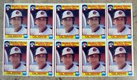 1986 - Topps Quaker Chewy #31 - Cal Ripken Baltimore Orioles HOF - 10ct Card Lot