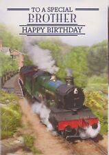 Grandad Quality Birthday Card Steam Engine Train Design