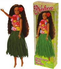 Hawaiian Barbie Hula Doll Green Raffia Skirt Hawaii Island Lei Flower Hair NIB