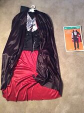 "Vampires Dracula Costume Halloween ""Very Cool Vampire"" Adult Men's Medium M"