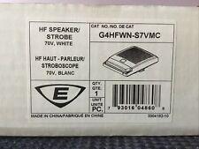 New listing Est High Fidelity Speaker-Strobes, G4Hfwn-S7Vmc Hf Speaker/Strobe 70V (New)