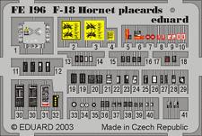 Eduard Zoom fe196 1/48 F / A-18 Hornet placards