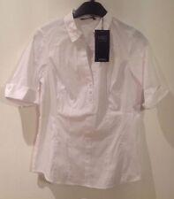 Business No Pattern Cotton Blend Tops & Shirts Plus Size for Women