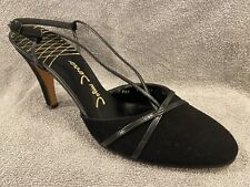 "Vintage John Jerro Sexy 4"" Ladies Heels Black Size 8.5 Shoes"