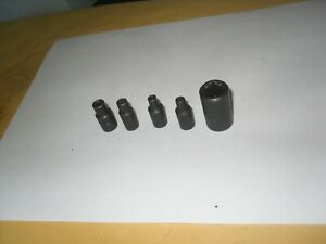 "Mac 5pc 1/4"" & 3/8"" Drive E4 E5 E6 E8 E16 Inverted Torx Sockets USA"