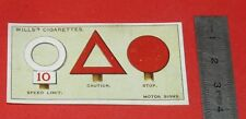 CIGARETTES WILLS CARD 1922 DO YOU KNOW ? SAVIEZ-VOUS N°29 MEANING MOTOR SIGNS