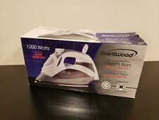 New Open Box Brentwood Mpi-90W Steam Iron with Auto Shut-Off, White