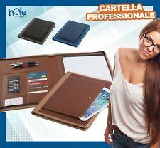 Cartella Uomo Portadocumenti Cartellina Portablocco A4 Porta Tablet Custodia