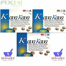 3 Boxes 500mg/tablet GSL Kava Kava Muscle Relaxant Sleep Aid Reduce Anxiety GSL