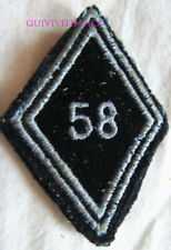 IN13247 - insigne TISSU LOSANGE DE BRAS 58° Centre d'Instruction des Trans