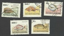 Yemen PDR #343-47 1984 Fish 250f to 2d used SCV $51.50