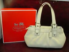 COACH in BOX Large Soho Pleated Ivory Leather Pink Tote Purse Satchel Bag F13732