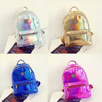 New Women Girls Holographic Backpack Shoulder School Bookbag Travel Bag Rucksack