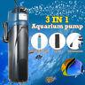3 in 1 UV Aquarium Sterilizer 5W Submersible Oxygen Pump Filter Water Fish