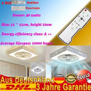 40W Deckenventilator mit Deckenleuchte Fan LED Licht Zwei verschiedene Formen DE