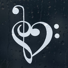 Music Treble Clef Heart Car Graphic Decal Vinyl Adhesive External Sticker