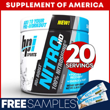 "Bpi NITRO HD Best Selling Nitric-Oxide Booster 20 Servings ""FREE SHIPPING"""