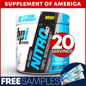 """Bpi NITRO HD Best Selling Nitric-Oxide Booster 20 Servings """"FREE SHIPPING"""""""