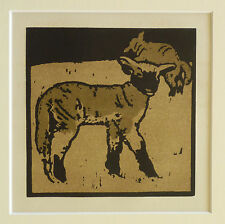 WILLIAM NICHOLSON VINTAGE 1900 LITHOGRAPH, THE VERY TAME LAMB