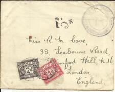Tristan Da Cunha -Cachet TypeII-SG#C2-BLACK(cat,425pounds)to England with Letter