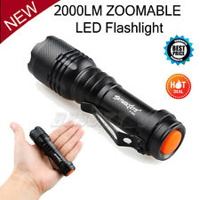 2000 Lumen Zoomable CREE XM-L Q5 LED Flashlight Torch Zoom Super Bright Light