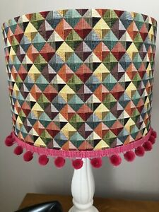 30cm/40cm Lampshade In Vibrant Colours 'Little Holland' With/WithoutPom Pom Trim