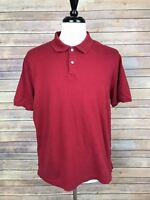 Mens Van Heusen Red Short Sleeve Polo Shirt Size Large